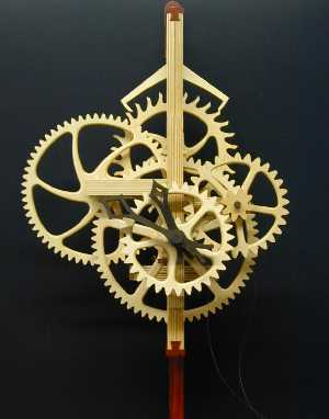 wooden clock works plans